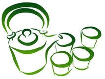 Tea set vector vector illustration