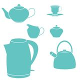 Tea set. Vector illustration. Stock Photos