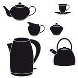 Tea set. Vector illustration Royalty Free Stock Photos