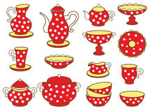 Tea set (vector illustration) Royalty Free Stock Image