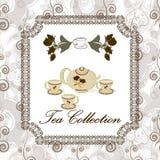 Tea set in vintage style Stock Image