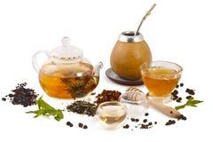 Tea set. On white background Stock Photo
