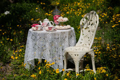 A tea set stock images
