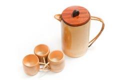 Tea set wood. Stock Image