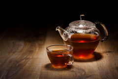 Tea Set on a Wooden Table Royalty Free Stock Image