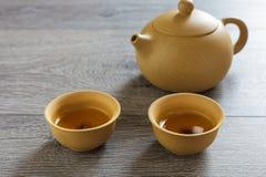Tea set of Yixing clay Stock Image