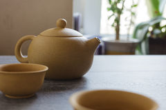 Tea set of Yixing clay Stock Photography