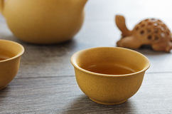 Tea set of Yixing clay Royalty Free Stock Images