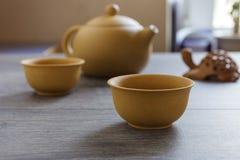 Tea set of Yixing clay Stock Photos