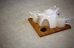 Tea sets in China. Tea drinking has been a material as well as a mental activity in Chinese cultural tradition, and the tea set is a major component of Chinese Royalty Free Stock Photography