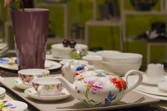 Tea sets Stock Photo