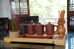 Tea sets and tea ceremony Royalty Free Stock Image