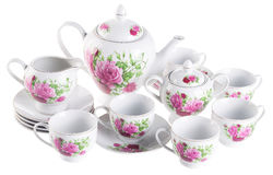 Tea sets. tea sets on a background Stock Photos