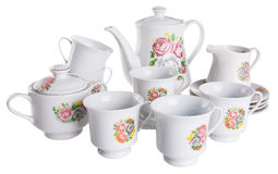 Tea sets. tea sets on a background Stock Photography