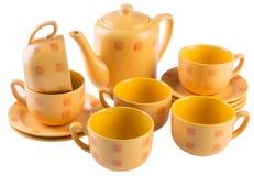 Tea sets. tea sets on a background Stock Images