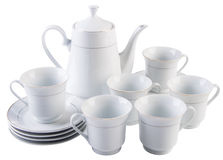 Tea sets. tea sets on a background Royalty Free Stock Images