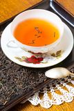 Tea setting on table Royalty Free Stock Image