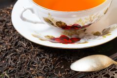 Tea setting on table Royalty Free Stock Images