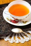 Tea setting on table Stock Images