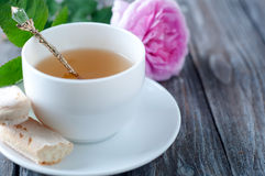 Tea in the Shabby Chic style Royalty Free Stock Images