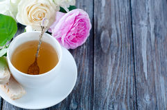 Tea in the Shabby Chic style Stock Photos