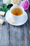 Tea in the Shabby Chic style Royalty Free Stock Photography