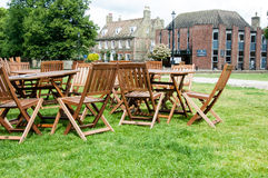 Tea-shop chairs and tables Stock Image