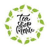 Tea shop menu. Vector calligraphy. Modern hand-lettered print design. Tea shop menu. Vector calligraphy. Modern hand-lettered print design Royalty Free Stock Photography