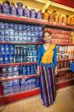 Tea shop. Sri Lankan woman selling in a tea shop. Royalty Free Stock Images