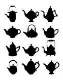 Tea_silhouette Στοκ Εικόνες