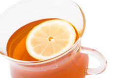 Tea with a slice of lemon Royalty Free Stock Photography
