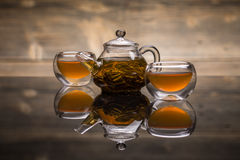 Tea in small tea bowls Royalty Free Stock Image