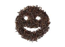 Tea smile. Smile of tea on a white background Royalty Free Stock Photo