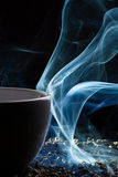 Tea and smoke Stock Photo