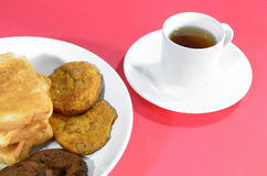 Tea and snack Royalty Free Stock Photography