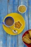 Tea and snacks Royalty Free Stock Photo