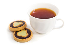 Tea and some sweet bakery Royalty Free Stock Photography
