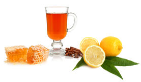Tea, spice, lemon and honey Royalty Free Stock Photography