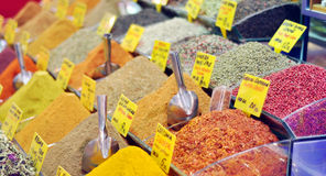 Tea and spices on an Egyptian market Stock Photos