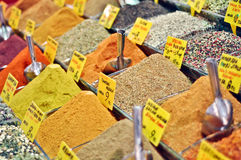 Tea and spices on an Egyptian market Royalty Free Stock Image