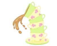 Tea spill Stock Images