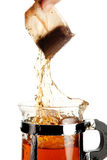 Tea splash Stock Photography