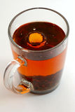 Tea splash Stock Photo
