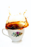 Tea splash Stock Photos