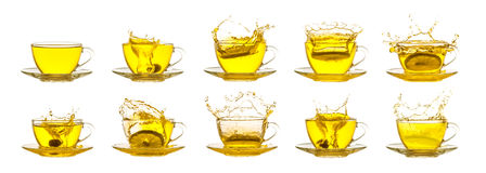 Tea splash collection Stock Photos