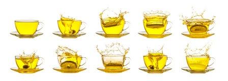 Tea splash collection Stock Photos