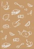Tea st background light brown Royalty Free Stock Image