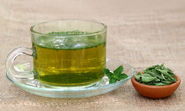 Tea with Stevia Stock Images