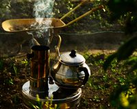 Tea On The Stove royalty free stock photography