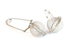 Tea strainer. Two tea strainers with white background Stock Photo